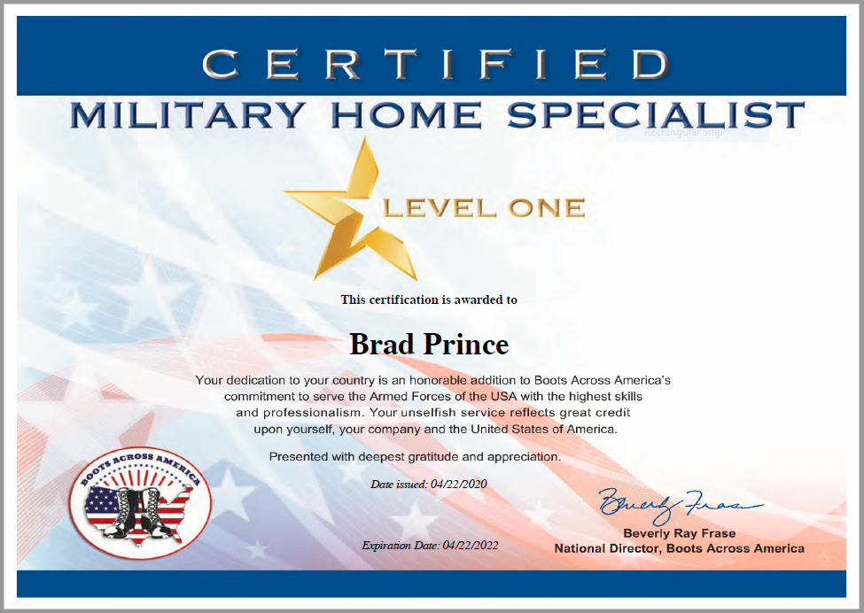 Brad Prince Certified Military Housing Specialists